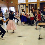 Photo of students dressed in 50s clothing at Lake Ridge Elementary