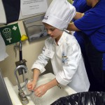 Photo of Future Chef contestant washing hands