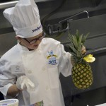 Photo of Future Chefs contestant with pineapple