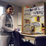 Photo of student with science fair project