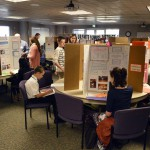 Photo of students and their projects at District Science Fair