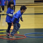 Photo of Kearns Network kindergarten students playing games