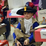 Photo of Bennion Elementary student dressed as historical figure