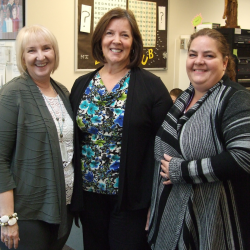 Photo of office professionals at West Lake Jr. High