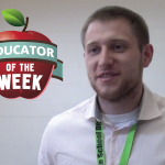 Photo of Jason Chandler with Educator of the Week logo