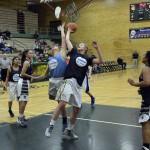 Photo of girls all stars playing basketball