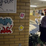 Photo of Dr. Seuss Day decorations at Moss Elementary