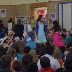 Photo of Oquirrh Hills Elementary students parading as book characters