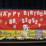 Photo of Dr Seuss Day decoration at Farnsworth Elementary