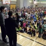Photo of Armstrong Academy principal being announced as Excel Award recipient