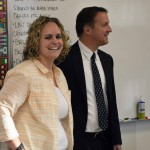 Photo of GTI teacher being announced as Excel Award recipient
