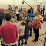Photo of Cottonwood Elementary teacher being announced as Excel Award recipient