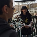 Photo of students preparing egg drop at 2015 MESA Day competition