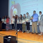 Photo of Olympus students and volunteers receiving PTA Award