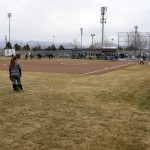 Photo of Hunter High softball players warming up