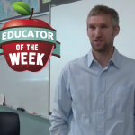 Photo of Todd Mitchell with Educator of the Week logo