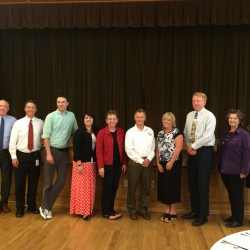 Photo of teachers and administrators receiving Rotary Awards