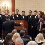 Photo of student choir performing at 25 Year Celebration