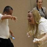 Photo of Whittier teacher covered in shaving cream