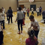 Photo of Whittier students participating in sensory activity