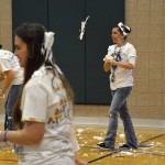 Photo of Whittier volunteers participating in sensory activity