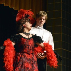 Photo of drama students performing scene