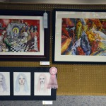 Photo of student artwork at High School Art Show