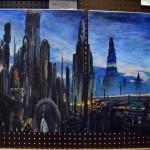 Photo of student artwork at High School Art Show