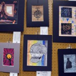Photo of student artwork at Junior High Art Show