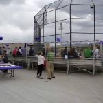 Photo of Olympus High softball fans in bleachers