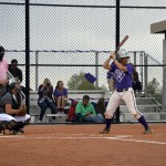 Photo of Olympus High softball player at bat