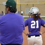 Photo of Olympus High softball player on base