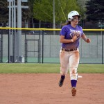 Photo of Olympus High softball player running