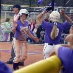 Photo of Olympus High softball teammates celebrating