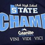 Photo of state champion t-shirt