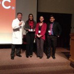 Photo of Skyline High students receiving Language Competition award