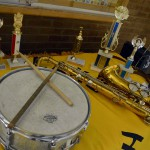 Photo of band equipment