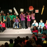 Photo of Westbrook Elementary students performing opera