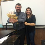 Photo of Cottonwood High band and choir teachers receiving award