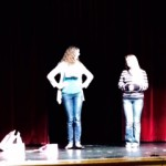 Photo of performers at Junior High Drama Festival