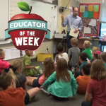 Photo of Ben Peters and Educator of the Week logo
