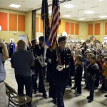 Photo of Taylorsville JROTC members performing flag ceremony