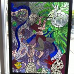 Photo of Hunter High stained glass piece