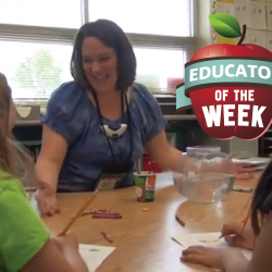 Photo of Jennifer Millett with Educator of the Week logo