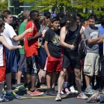 Photo of Kennedy Jr High students preparing to run 5K