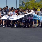 Photo of Kennedy Jr High students preparing to run 5K