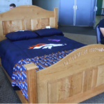 Photo of wooden bed created by GTI student