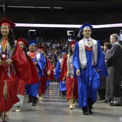 Photo of Granger High graduates walking