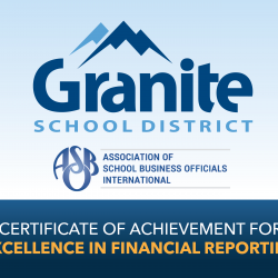 Granite logo with text declaring award for Excellence in Financial Reporting