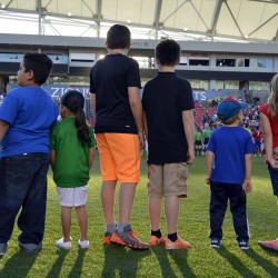Photo of Granite students on Rio Tinto Stadium field